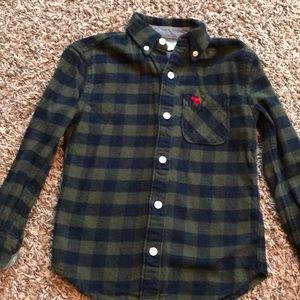 Little boys flannel button down shirt